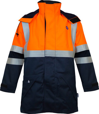 FR, Arc, Anti Static Lined Waterproof Rain Jacket, JRP003